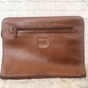 Vintage Burberry Women's Leather Briefcase